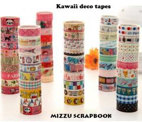 10pcs Assorted Kawaii Masking Tape Mini