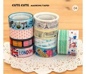 10pcs Kawaii Masking Tapes - Version 04