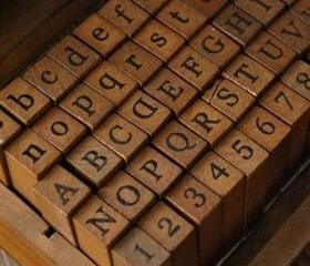 70pcs Typewriting Wood Stamp